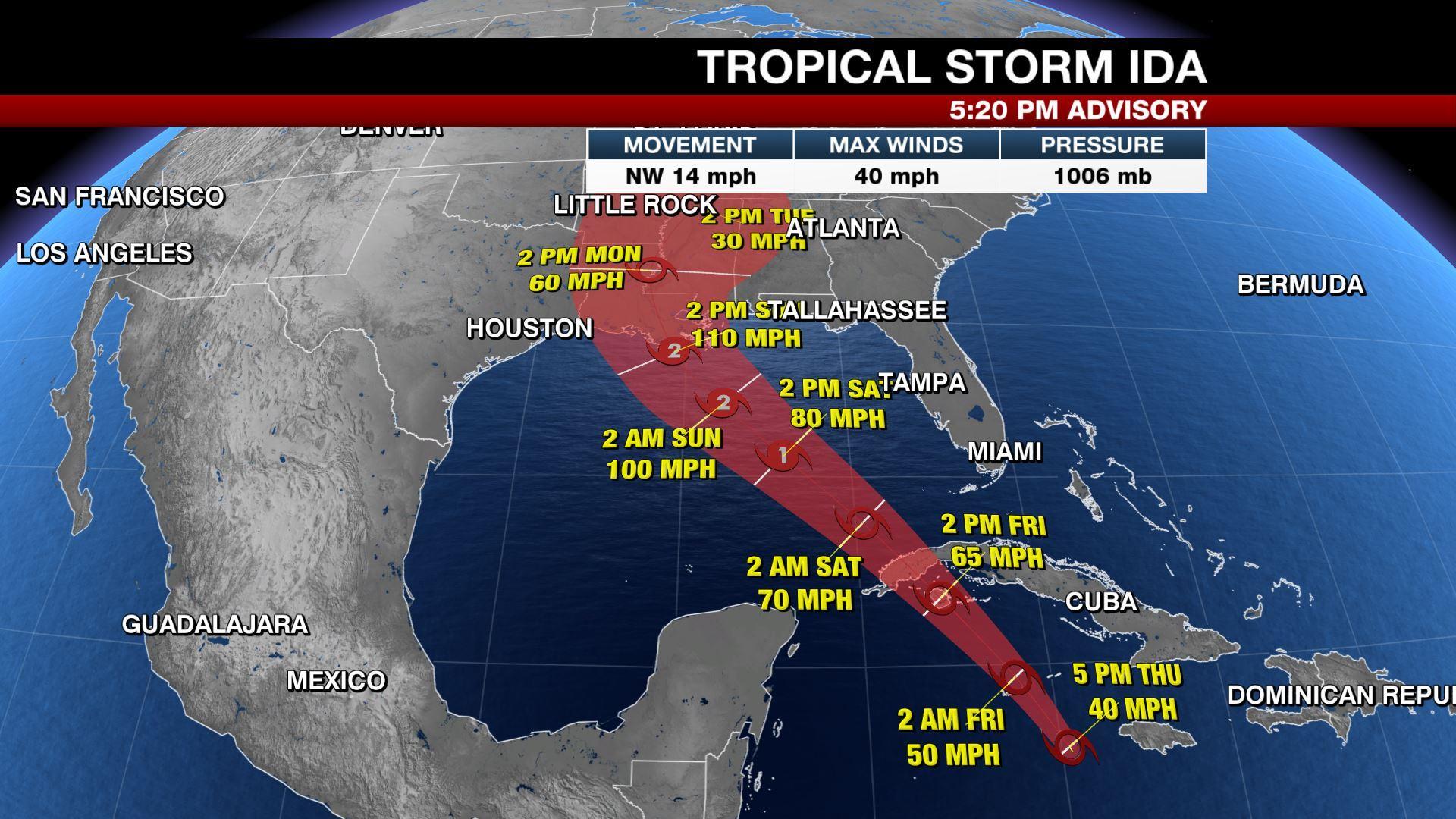 Ida, cơn bão mạnh nhất tấn công Louisiana